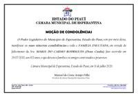 Câmara Municipal de Esperantina emite Nota de Pesar